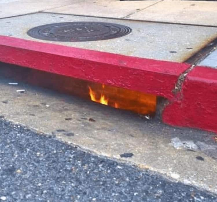 water-drain-on-fire-nonsensical-photos