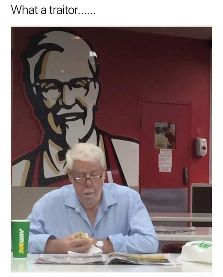 colonel-sanders-eating-subway-awkward-moments