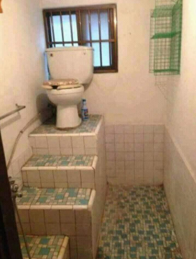 toilet stairs hilariously atrocious things