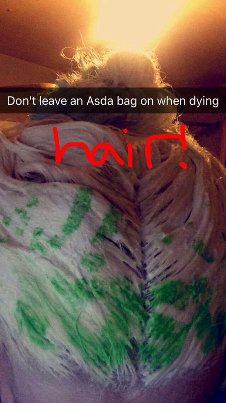 wrapping-hair-with-asda-bag-embarrassing-fails