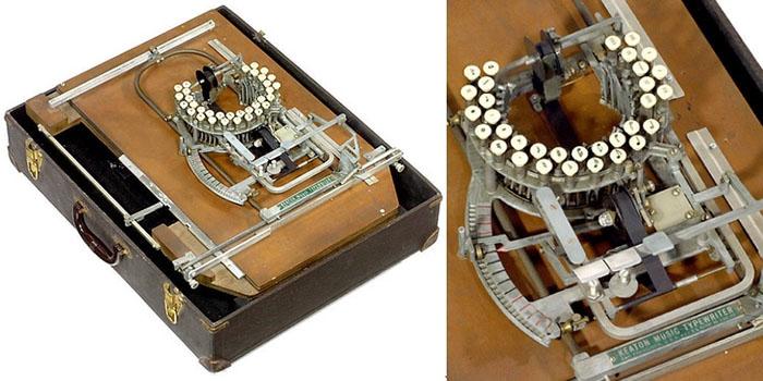 1950 musical note typewriter