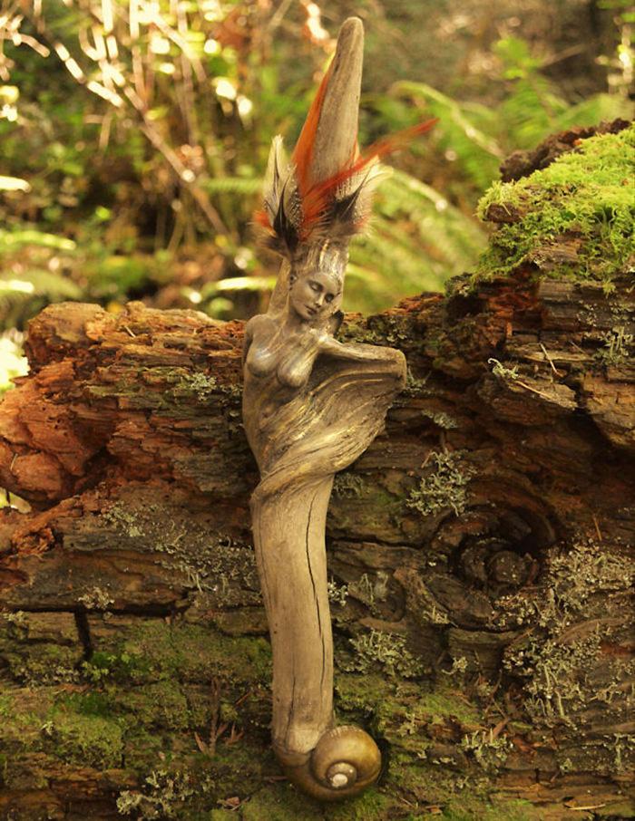 Debra Bernier driftwood sculptures