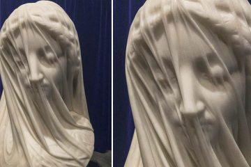 The veiled virgin sculpture