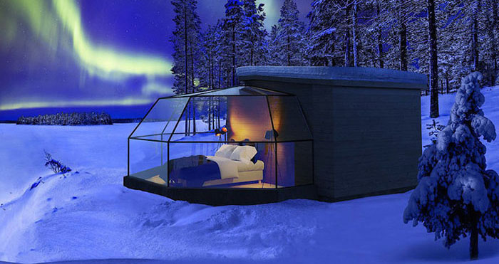glass igloos arctic fox igloos