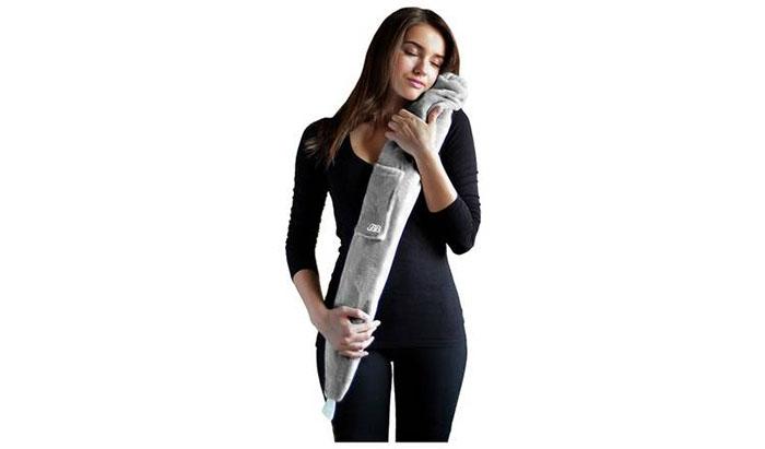 grey hot water bottle full length