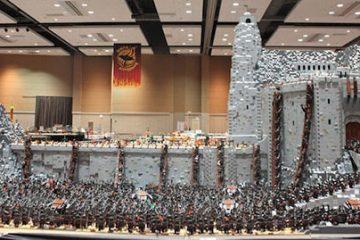 helms deep battle lego