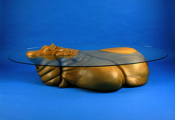 hippos submerged table