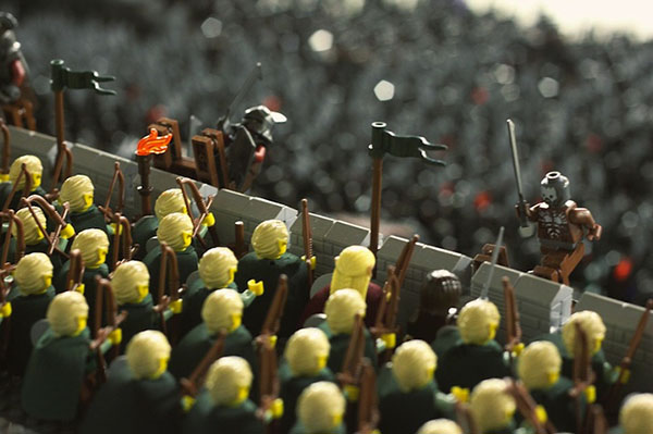 lego elfs fighting orcs