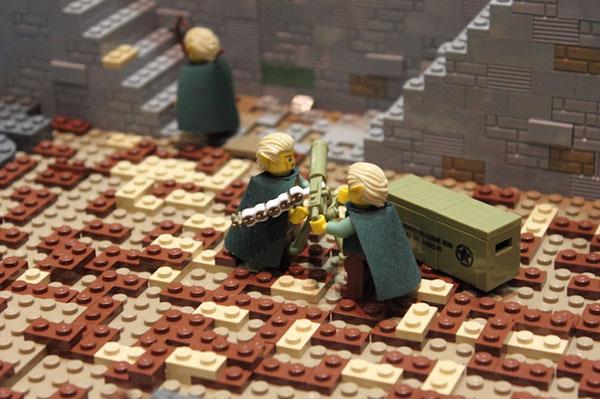 lego figurines battle