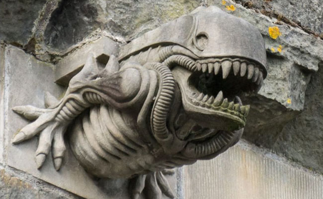 paisley abbey alien gargoyle