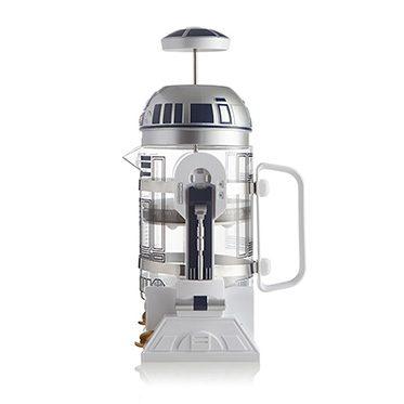 r2-d2 coffee press side view device