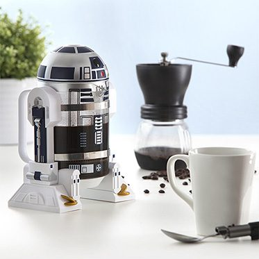 r2-d2 filled with coffee product