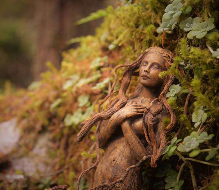 spiritual driftwood art