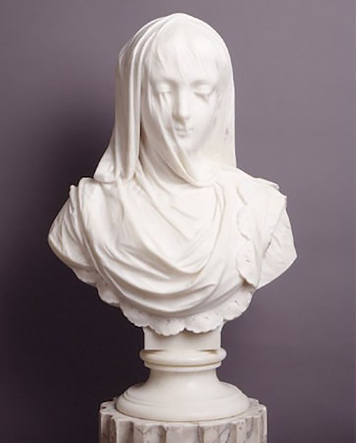 Exquisite 19th Century Sculpture Cloaked In A Translucent