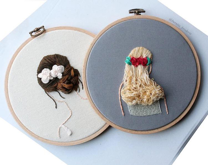 3d embroidery hairstyles