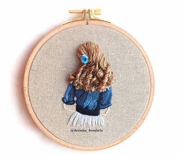 3d hair embroidery