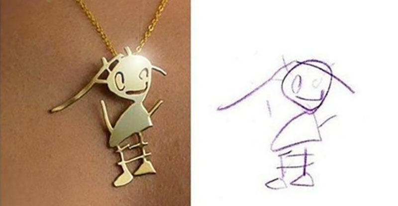 This Company Will Turn Your Kid S Drawing Into Unique Jewelry