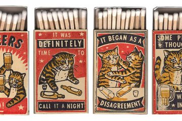 Matchbox art cats