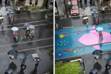 Water-Activated Street Murals