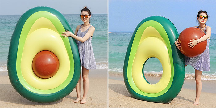 avocado pool float removable pit