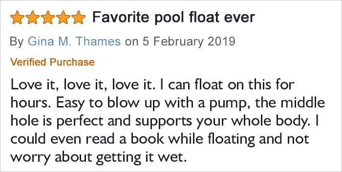 avocado-shaped pool float comment gina thames
