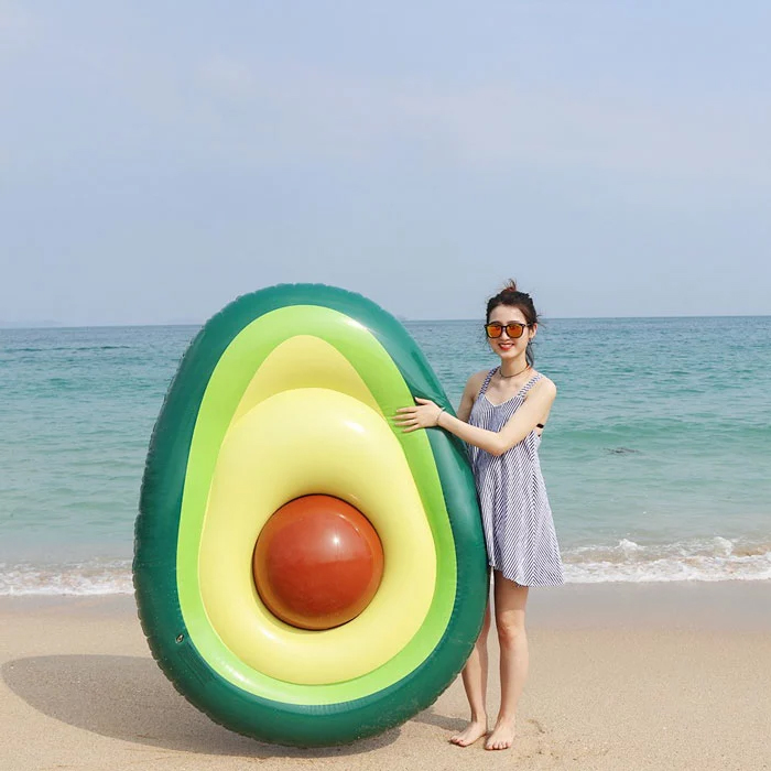 avocado-shaped pool float
