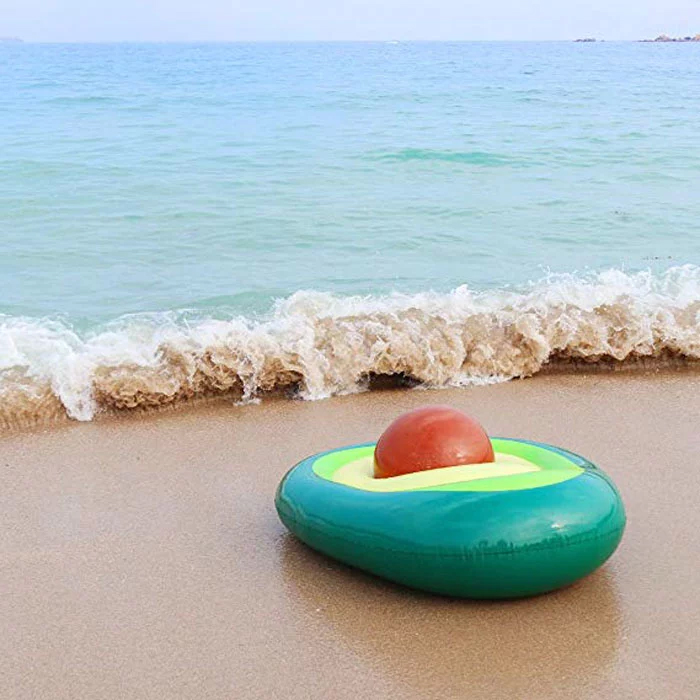 avocado-shaped pool floats
