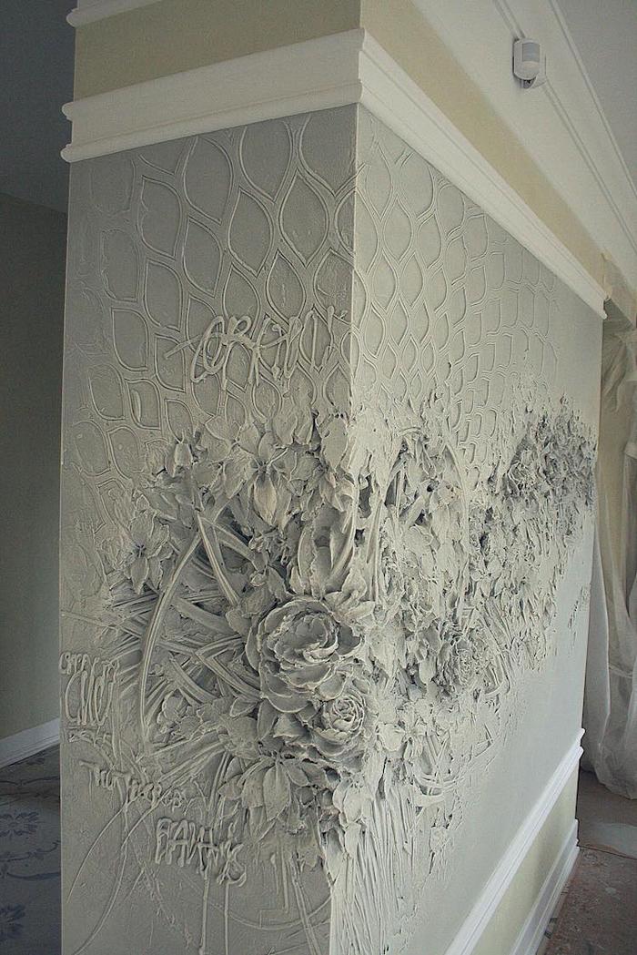 bas-relief sculptures wall florals