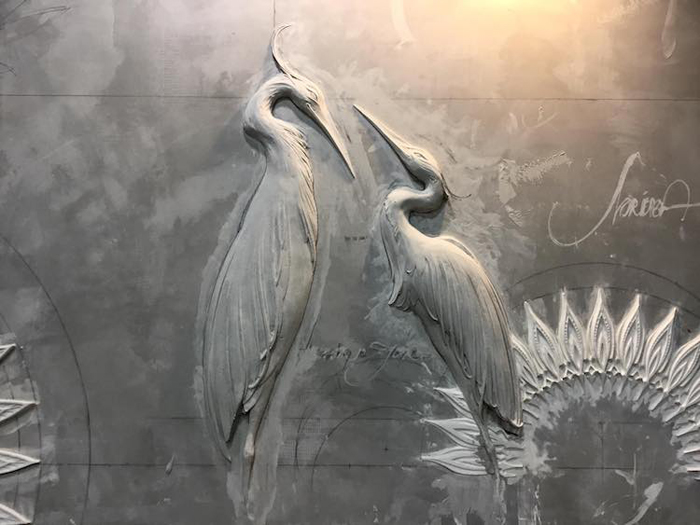 bas-relief sculptures carving