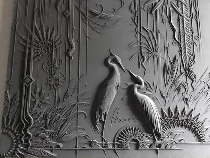 bas-relief sculptures on walls