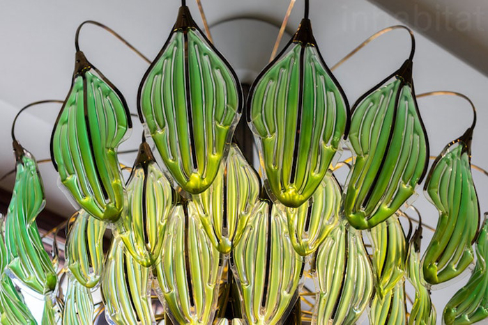 bionic chandelier synthetic leaves