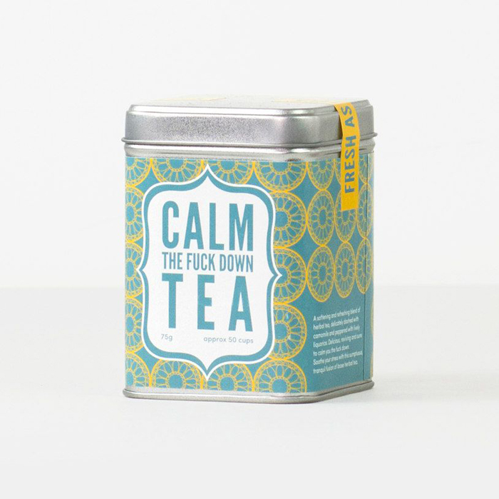 calm the fuck down tea