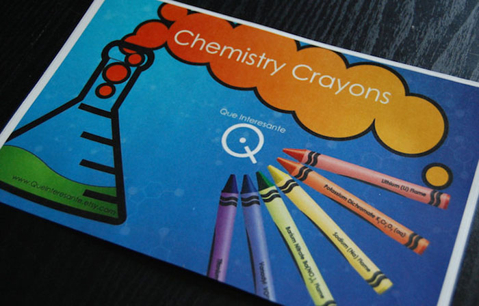 chemistry element crayons