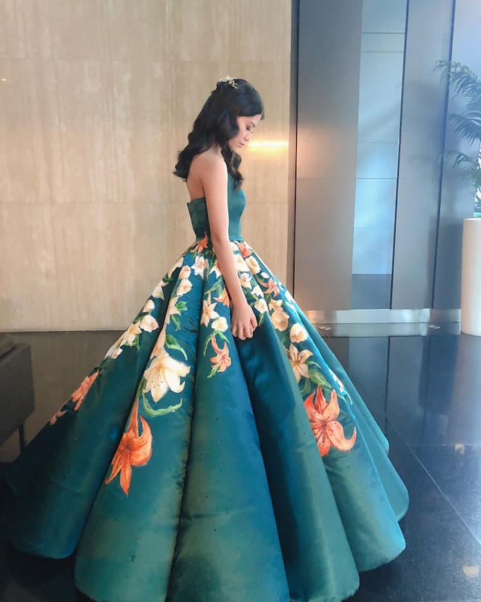 ciara gan hand painted graduation dress