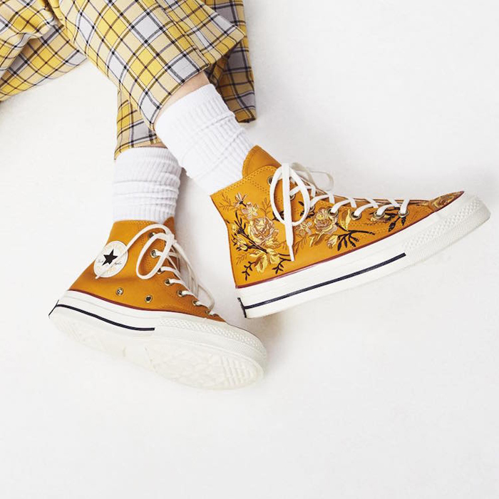 converse embroidered sneakers for women