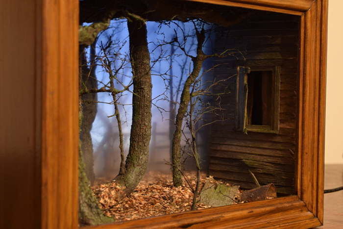 creepy scenes shadow box dioramas