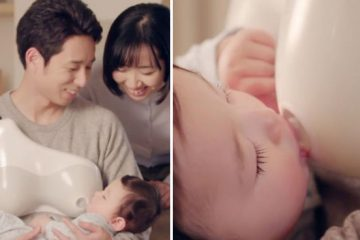 dentsu dad breastfeeding baby device