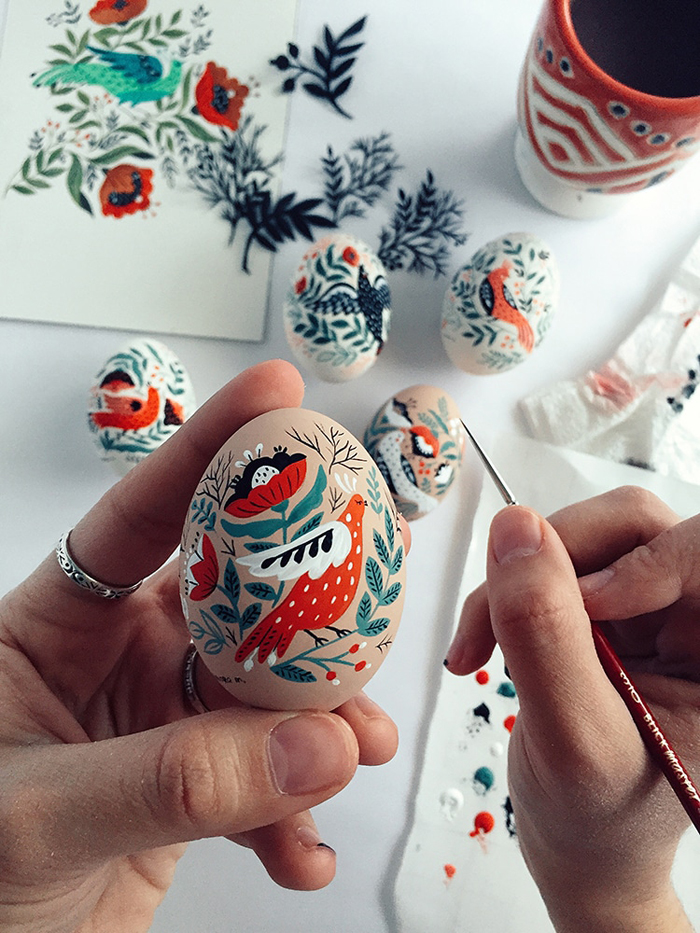 dinara mirtalipova hand-painted easter egg