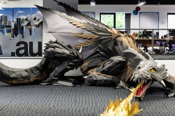 dragon made out of paper game of thrones