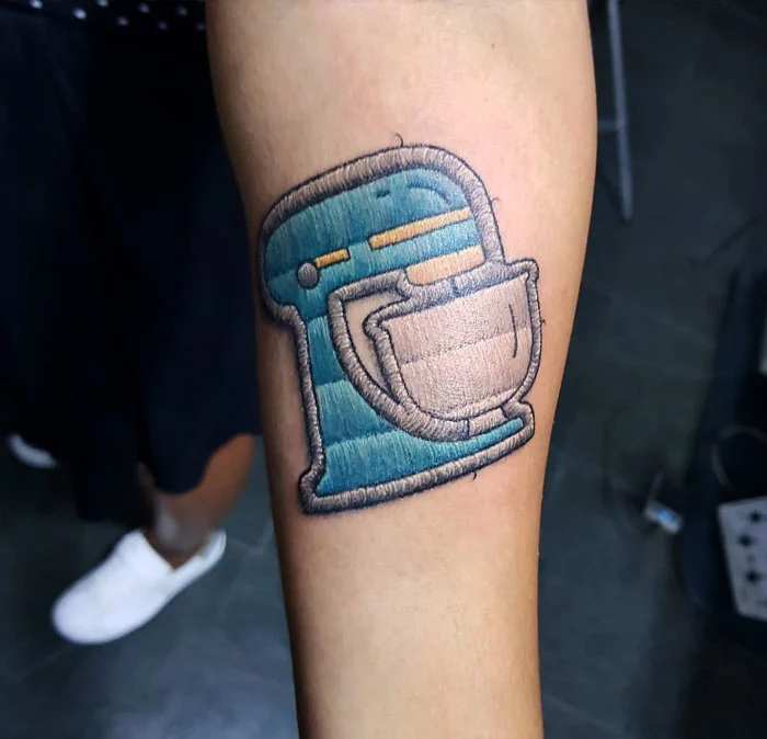 embroidery tattoo coffee maker