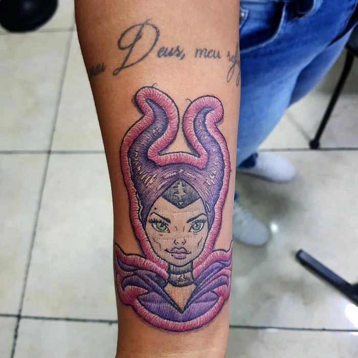 embroidery tattoo maleficent
