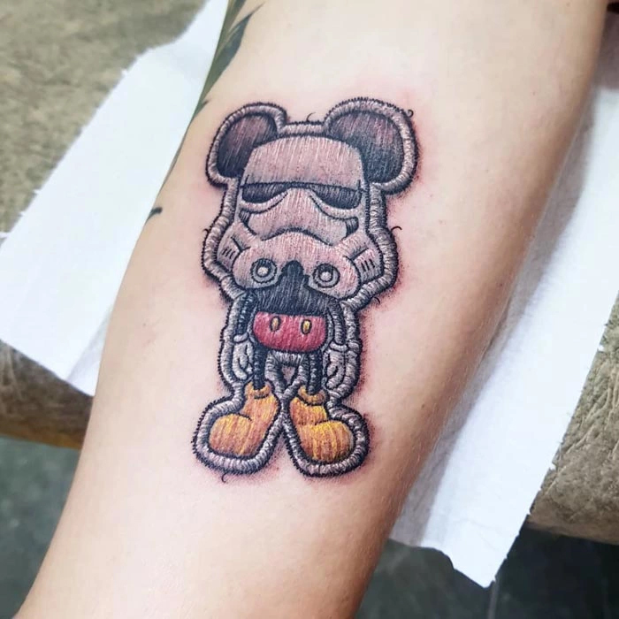 embroidery tattoo mickey star wars