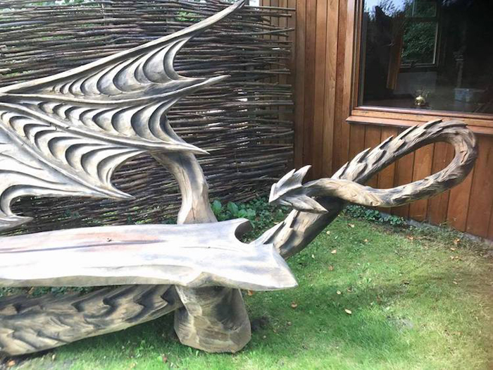 fantastical dragon bench