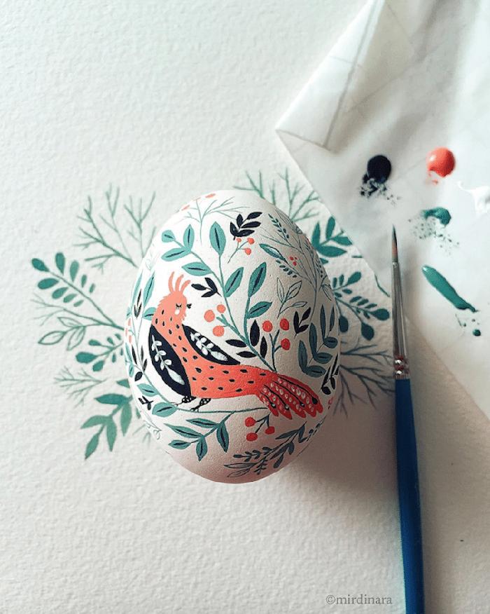 folk-inspired easter egg