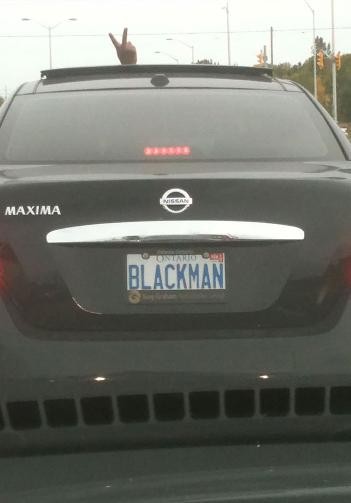 funny license plates blackman
