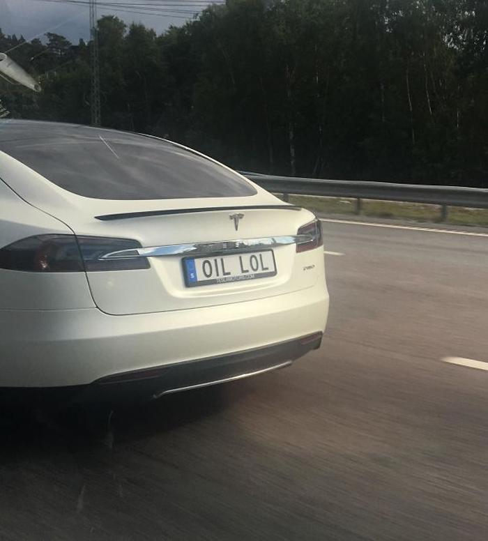 funny license plates oil lol