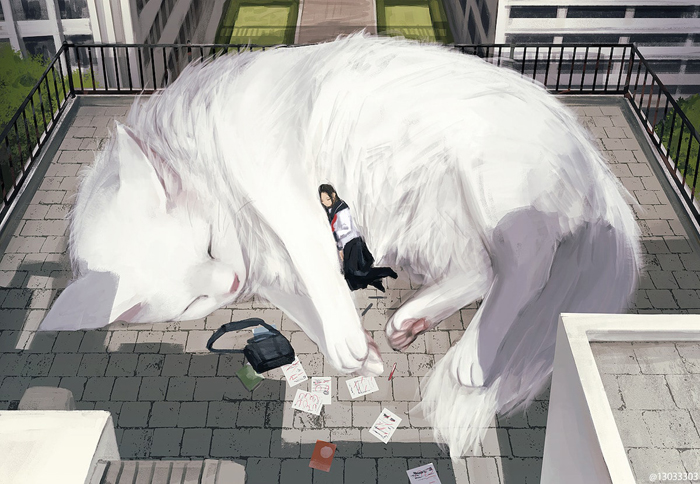 gentle giant animals monokubo illustrations