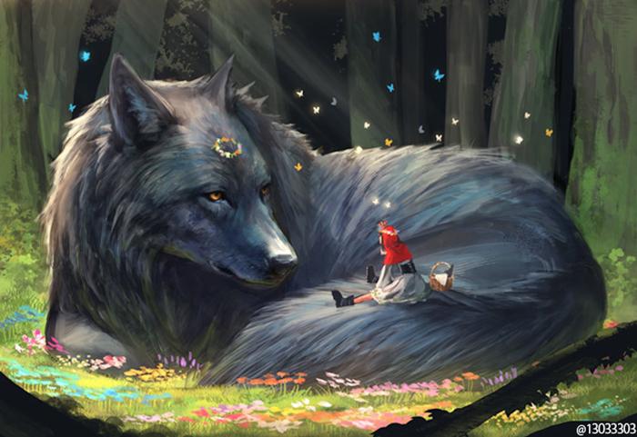 gentle giant wolf monokubo