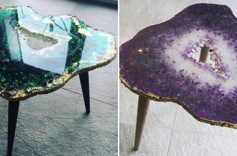 geode resin tables