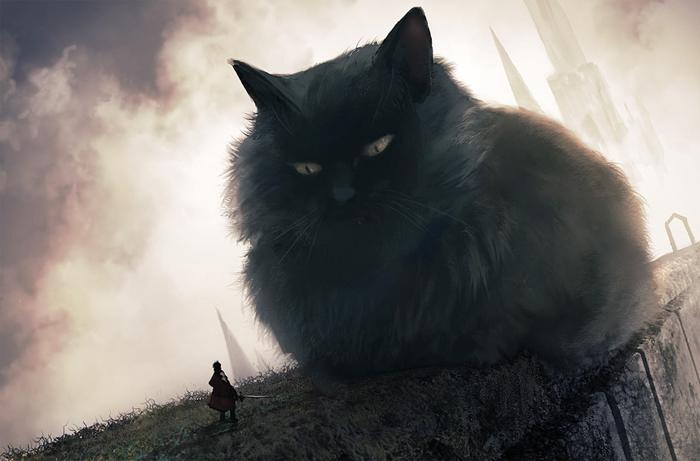 giant fierce cat monokubo